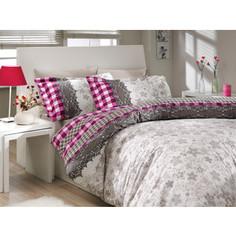 Комплект постельного белья Hobby home collection Евро, поплин, Serena, фиолетовый (1501000169)