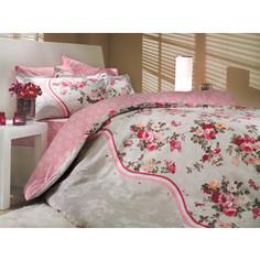 Комплект постельного белья Hobby home collection Евро, поплин, Susana, розовый (1501000178)