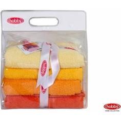 Набор из 4 полотенец Hobby home collection Rainbow 50x90 см 4 штуки желтый (1501001193)