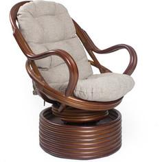 Кресло-качалка Мебель Импэкс Davao коньяк с подушкой