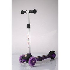 Самокат 3-х колесный Funny Scoo Pilot luxe (MS-942) фиолетовый