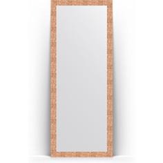 Зеркало напольное поворотное Evoform Definite Floor 78x197 см, в багетной раме - соты медь 70 мм (BY 6004)