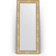 Зеркало напольное с фацетом поворотное Evoform Exclusive Floor 87x207 см, в багетной раме - состаренное серебро с орнаментом 120 мм (BY 6138)