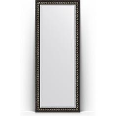 Зеркало напольное с фацетом поворотное Evoform Exclusive Floor 80x199 см, в багетной раме - черный ардеко 81 мм (BY 6108)