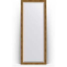 Зеркало напольное с фацетом поворотное Evoform Exclusive Floor 78x198 см, в багетной раме - состаренная бронза с плетением 70 мм (BY 6103)