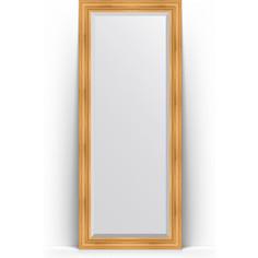 Зеркало напольное с фацетом поворотное Evoform Exclusive Floor 84x204 см, в багетной раме - травленое золото 99 мм (BY 6127)