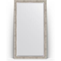 Зеркало напольное с фацетом поворотное Evoform Exclusive Floor 111x201 см, в багетной раме - римское серебро 88 мм (BY 6158)