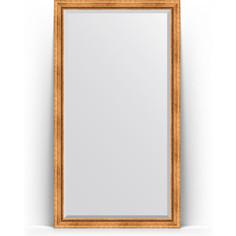 Зеркало напольное с фацетом поворотное Evoform Exclusive Floor 111x201 см, в багетной раме - римское золото 88 мм (BY 6157)