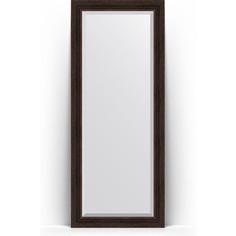 Зеркало напольное с фацетом поворотное Evoform Exclusive Floor 84x204 см, в багетной раме - темный прованс 99 мм (BY 6130)
