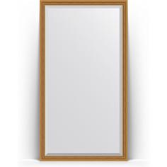 Зеркало напольное с фацетом поворотное Evoform Exclusive Floor 108x198 см, в багетной раме - состаренное золото с плетением 70 мм (BY 6141)