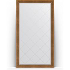 Зеркало напольное с гравировкой поворотное Evoform Exclusive-G Floor 112x202 см, в багетной раме - бронзовый акведук 93 мм (BY 6362)