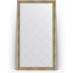 Зеркало напольное с гравировкой поворотное Evoform Exclusive-G Floor 112x202 см, в багетной раме - серебряный акведук 93 мм (BY 6361)
