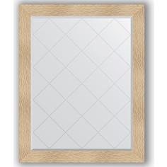 Зеркало с гравировкой поворотное Evoform Exclusive-G 96x121 см, в багетной раме - золотые дюны 90 мм (BY 4365)