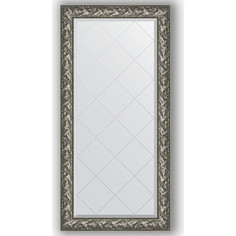 Зеркало с гравировкой поворотное Evoform Exclusive-G 79x161 см, в багетной раме - византия серебро 99 мм (BY 4286)