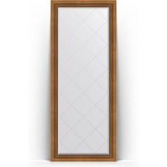 Зеркало напольное с гравировкой поворотное Evoform Exclusive-G Floor 82x202 см, в багетной раме - бронзовый акведук 93 мм (BY 6322)