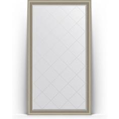 Зеркало напольное с гравировкой поворотное Evoform Exclusive-G Floor 111x201 см, в багетной раме - хамелеон 88 мм (BY 6360)