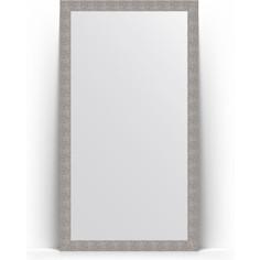 Зеркало напольное поворотное Evoform Definite Floor 111x201 см, в багетной раме - чеканка серебряная 90 мм (BY 6021)