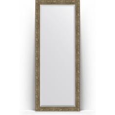 Зеркало напольное с фацетом поворотное Evoform Exclusive Floor 80x200 см, в багетной раме - виньетка античная латунь 85 мм (BY 6115)