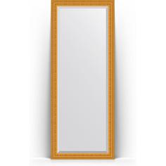 Зеркало напольное с фацетом поворотное Evoform Exclusive Floor 80x199 см, в багетной раме - сусальное золото 80 мм (BY 6109)