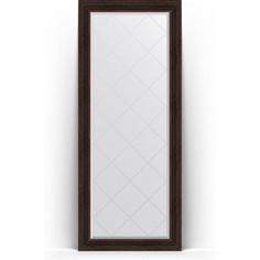 Зеркало напольное с гравировкой поворотное Evoform Exclusive-G Floor 84x204 см, в багетной раме - темный прованс 99 мм (BY 6330)