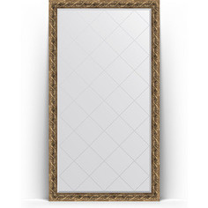Зеркало напольное с гравировкой поворотное Evoform Exclusive-G Floor 111x200 см, в багетной раме - фреска 84 мм (BY 6351)
