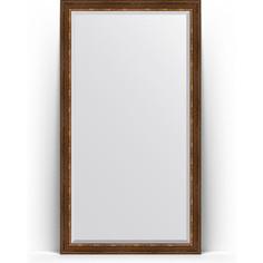 Зеркало напольное с фацетом поворотное Evoform Exclusive Floor 111x201 см, в багетной раме - римская бронза 88 мм (BY 6159)