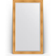 Зеркало напольное с фацетом поворотное Evoform Exclusive Floor 114x204 см, в багетной раме - травленое золото 99 мм (BY 6167)