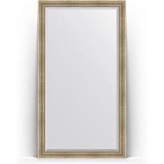 Зеркало напольное с фацетом поворотное Evoform Exclusive Floor 112x202 см, в багетной раме - серебряный акведук 93 мм (BY 6161)