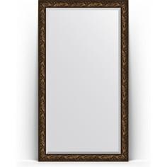 Зеркало напольное с фацетом поворотное Evoform Exclusive Floor 114x203 см, в багетной раме - византия бронза 99 мм (BY 6166)