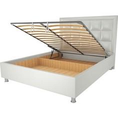 Кровать OrthoSleep Альба механизм и ящик белый 80х200