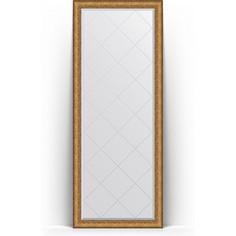 Зеркало напольное с гравировкой поворотное Evoform Exclusive-G Floor 79x198 см, в багетной раме - медный эльдорадо 73 мм (BY 6306)