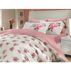 Комплект постельного белья Hobby home collection 1,5 сп, поплин, Paris Spring, розовый (1501000144)
