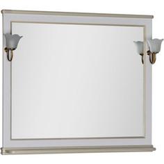 Зеркало Aquanet Валенса 110 белый краколет/золото (182648)