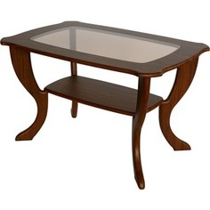 Стол журнальный Калифорния мебель Маэстро со стеклом СЖС-01 Орех