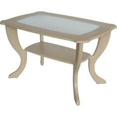Стол журнальный Калифорния мебель Маэстро со стеклом СЖС-01 Дуб