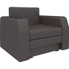 Кресло-кровать АртМебель Атлант эко-кожа коричневый