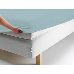 Простыня Ecotex трикотаж на резинке 140x200x20 см (ПРТ14 голубой)