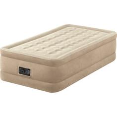 Надувная кровать Intex 64456 Ultra Plush Bed 99х191х46см, встроенный насос 220V