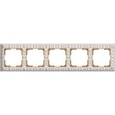 Рамка Werkel Antik на 5 постов белое золото WL07-Frame-01