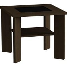 Журнальный стол MetalDesign Смарт MD 735.02.01 корпус-венге/ стекло-чернный