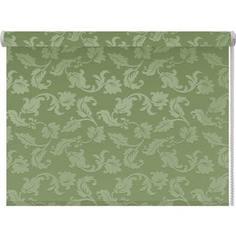 Рулонная штора DDA Вояж (жаккард) Зеленый 140x170 см