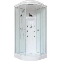 Душевая кабина Royal Bath 90х90х217 стекло белое/прозрачное (90HK3-WT)