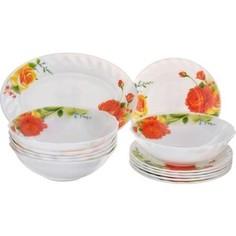 Сервиз столовый 19 предметов Miolla Чайные Розы (W-19L/6665)