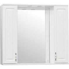 Зеркало-шкаф Style line Олеандр-2 Люкс 90 с подсветкой, белый (4650134470857)