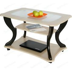 Стол журнальный Калифорния мебель Маэстро СЖС-02 со стеклом дуб/венге