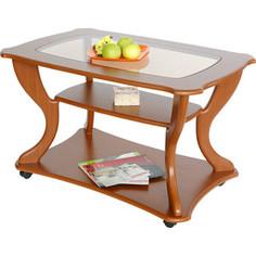 Стол журнальный Калифорния мебель Маэстро СЖС-02 со стеклом вишня
