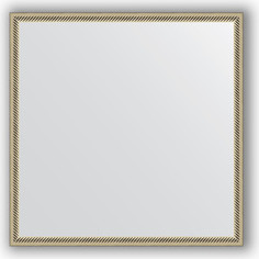 Зеркало в багетной раме Evoform Definite 68x68 см, витое серебро 28 мм (BY 0656)
