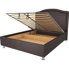 Кровать OrthoSleep Калифорния шоколад механизм и ящик 90х200