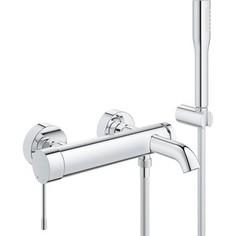 Смеситель для ванны Grohe Essence+ с душевым гарнитуром (33628001)