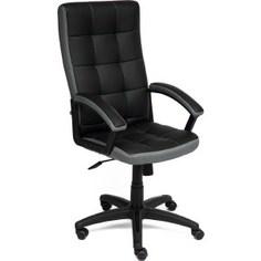 Офисное кресло TetChair TRENDY кож/зам/ткань, черный/серый, 36-6/12